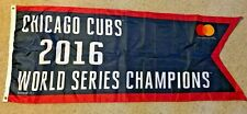 Chicago Cubs 2016 World Series Champions BANNER FLAG PENNANT SGA 4/12/17 Wrigley