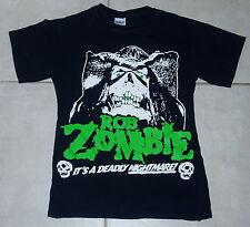 ROB ZOMBIE Concert Tour T Shirt (S) Small John 5 white disturbed marilyn manson