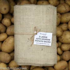 2 LARGE Jute Hessian Sacks - 50kg Potato Storage Sacks