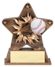 """starburst baseball trophy, engraving included, about 5"""" tall, very cute"""