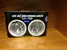"4""ROUND CLEAR HALOGEN LIGHTS DRIVING LAMPS WITH BLUE LED ANGEL EYE RINGS HL-2119"
