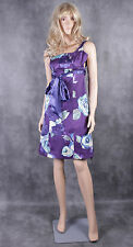 DEBUT Purple Shanghia Floral Prom Dress Size 6 Ladies Party Wedding