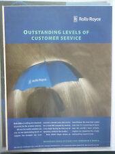 12/1999 PUB ROLLS-ROYCE AERO ENGINES CUSTOMER SERVICE ORIGINAL AVIATION AD