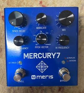 Meris Mercury7 reverb pedal mercury 7