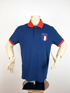 Hugo Boss Paddy Flag France Polo Shirt Blue Men's Size XL Regular Fit Very Rare