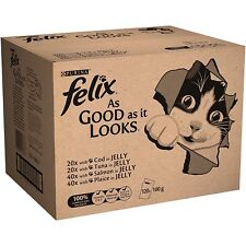 Felix as It Looks Tuna in Jelly Wet Cat Food Pouch 20 x 100-Gram