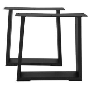 DIY 16'' Trapezoid Dinner & Coffee Table Legs Metal Iron Bench Furniture Black