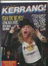 Kerrang  #173 David Lee Roth Strangeways Cozy Powell White Metal    MBX72