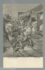 Postcard  Józef BRANDT (1841-1915), Ulica w Chocimiu