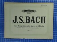 Edition Peters No.224 J.S.Bach Orgel Kompositionen für Klavier Band 1 B18874