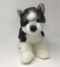 "Douglas 16"" Plush Sasha Husky Dog Gray White Stuffed Animal Toy"