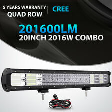 """QUAD ROW 20inch 2016W LED Light Bar Combo Offroad for Jeep Ford Truck SUV 22/23"""""""