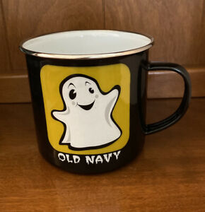 Old NavyHalloween Large Enamel Mug Featuring Ghost & Dracula