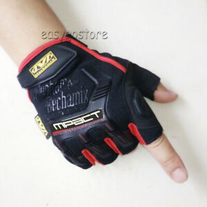 FINGERLESS Mechanix M-PACT Tactical Gloves Military Bike Sports Wear Mechanics