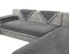 New and Improved Anti-Slip Grip Thick Linen Sofa Protector, Sectional Sofa Cover