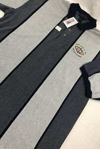 Vintage Antigua 1998 Super Bowl XXXII Striped Polo Shirt Mens XL NWT