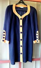 Vintage Nipon Boutique Fully Lined Wool Crepe Dress Black/Gold Orange 10 EUC