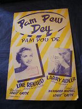 Partition Pam Pew Dey Line Renaud Larry Adler Gasté 1954 Music Sheet