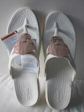 Crocs Sanrah Liquid Metallic Wedge Women's Flip Flop Size 10