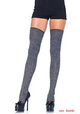 SEXY calze PARIGINE Grige Maglia Costine intimo Lingerie Fashion GLAMOUR  !