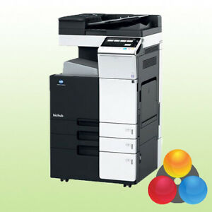 Konica Minolta bizhub C224e mit 2 PF Kopierer Drucker Scanner inkl. Toner Duplex