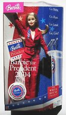 2004 Barbie President Doll Set New in Box Election White House Project NRFB Nice