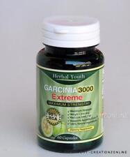 Garcinia Cambogia 3000 EXTREME  MAXIMUM STRENGTH 60 Caps  95% HCA  Herbal Youth