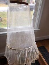 Vintage Hoop Petticoat Skirt Hoops Net Lace