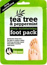 Tea Tree Peppermint & Shea Butter Foot Pack Moisturising Socks/Boots Treatment