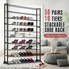 50 Pairs 10 Tiers Shoe Rack Shelf Stackable Wardrobe Storage Organizer Stand