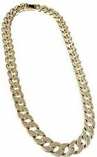 "15mm 30"" Fully CZ Iced Out Hip Hop Miami Cuban Chain & 9"" Bracelet Imported"