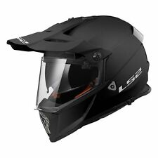 fb48d377 LS2 MX436 PIONEER SOLID MATT BLACK OFF ROAD MOTORCYCLE DUAL VISOR QUAD  HELMET