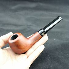 Tobacco/Smoking Pipe Straight Redwood Solid Wood Handmade #095+10 Pipe Filters