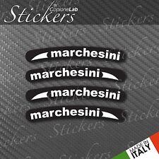 Set Adesivi per Cerchi Marchesini Ducati Bianco fondo Nero