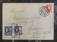 1939 Zvolen Slovakia Censored Cover To Hungary Attractive Stamps