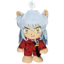 """Authentic Sealed Inuyasha 8"""" Stuffed Plush Toy w/ Suction Cup Strap (GE-6010)"""
