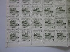 40 NH federated states of MICRONESIA $1 Sokehs Rock stamps with free ship!