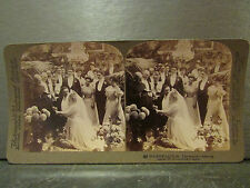 ancienne photo stereoscopique underwood & underwood ceremonie mariage