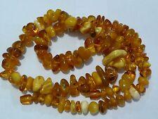 Large Antique 82 gr Natural Egg Yolk Butterscotch Honey& Cocnac Amber Necklace
