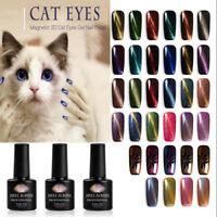 Gel Nail Polish Starry Magnetic Cat Eye Soak Off Top Base Coat Varnish Manicure