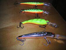 FOUR (4) Name Brand Deep Diver Crankbaits Asst. Colors & Sizes