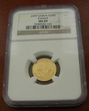 China 2009 Gold 1/10 oz Panda 50 Yuan NGC MS69
