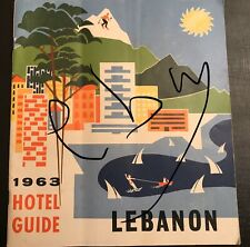 Liban Lebanon: 1963 Official Hotel Guide- Rare - 40 Pages