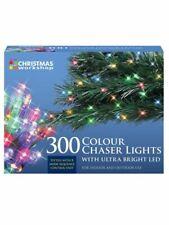 77670 Christmas Workshop Benross 300 LED Chaser String Lights Multi Coloured 8