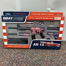 Goatguns Mini AR15 - USA Theme  American Flag Wrapped Replica Toy Rifle BNIB