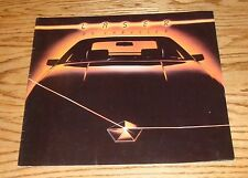 Original 1984 Chrysler Laser Deluxe Sales Brochure 84