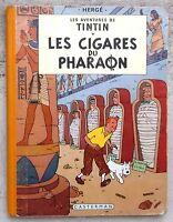 Tintin Les Cigares du Pharaon EO couleurs 1955 B14  Hergé