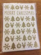 Lot 5 cartes doubles de vœux Joyeux Noël avec enveloppe Merry Christmas
