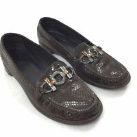 Stuart Weitzman Loafers SIZE 8 M Womens Dark Brown Luxury Slip On Driving Flats