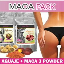 Maca Pack : Aguaje Curvyfruit + Maca 3 Powder For Bigger Booty and Hips /1 Month